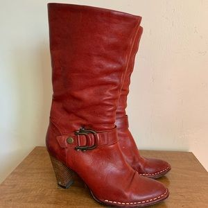 Frye Catherine red Boots